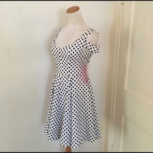 Betsey Johnson Retro Vintage Polkadot Swing Dress